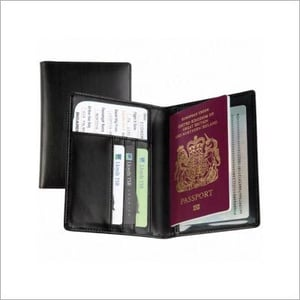 Printed Leather Passport Cover