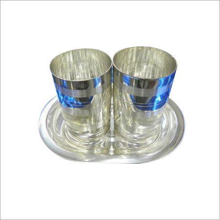 German Silver Glass Set