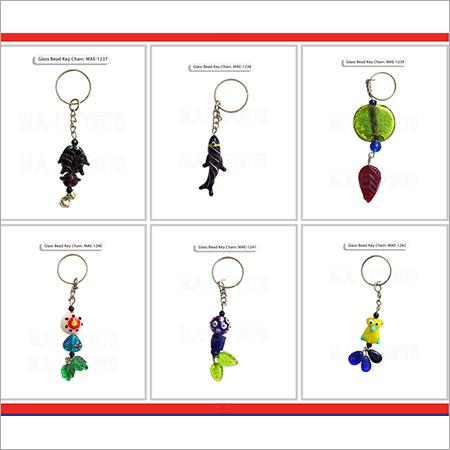 Glass Bead Keychain