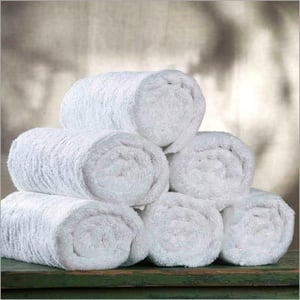Rolled White Towels