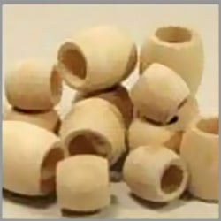 Unfinished Barrel Wooden Beads