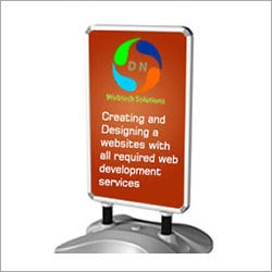 Portable Outdoor Banner Stand