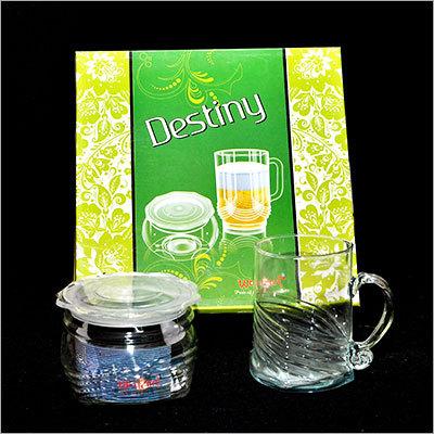 Glass  Jar Set(2 Pcs)