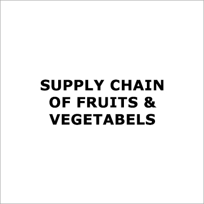 Fruits And Vegetables Supply Chain