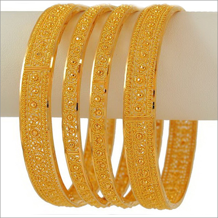 Designer Gold Bangle Set At Best Price In Indore Madhya Pradesh Aparna Jewellers