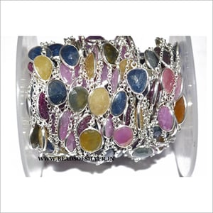 Silver Plated Gemstone Chain