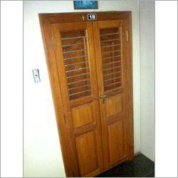 Teak Wood Safety Door Wit Grill Chennai Door Frames L 15