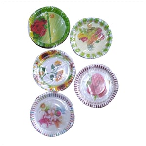 Eco Friendly Printed Disposable Plate