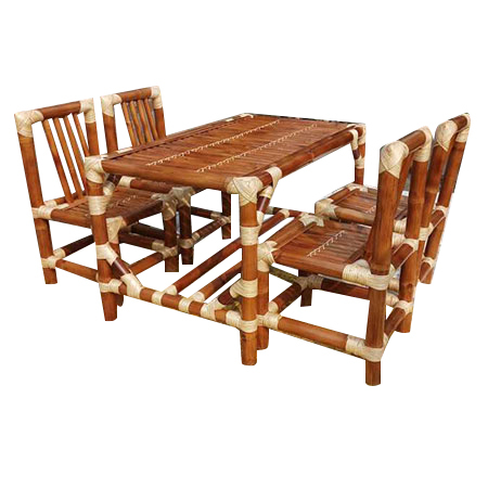 Bamboo 4 Seater Dining Set