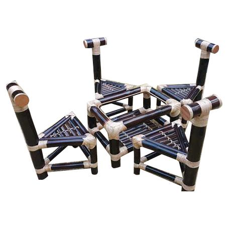 Bamboo Coffee Table Chair Set
