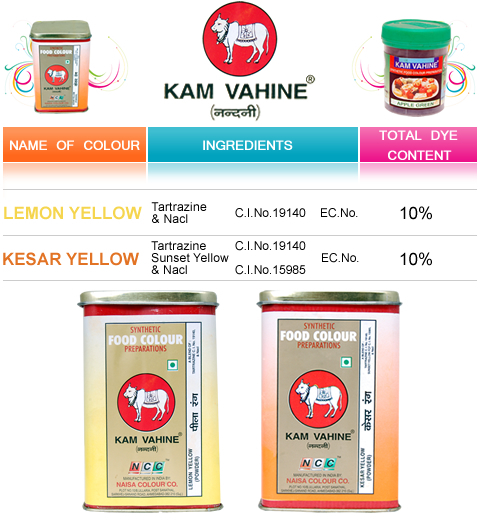 Kam Vahine Brand Synthetic Food Colour