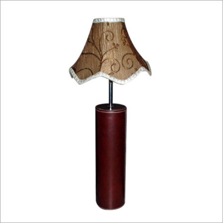 Leather Wooden Lamp Shade