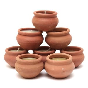 Clay Pot Candle