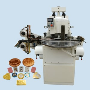 Golden Coin Chocolate Aluminum Foil Wrapping Machine