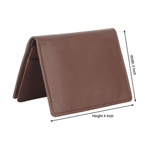 Brown Synthetic Leather Wallet