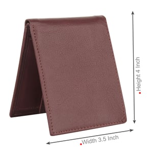 Burgundy Synthetic Leather Wallet