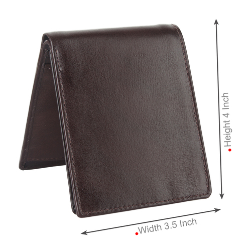 Many Dark Brown Leather Travel Wallet