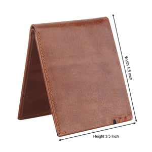 Foldable Brown Leather Wallet