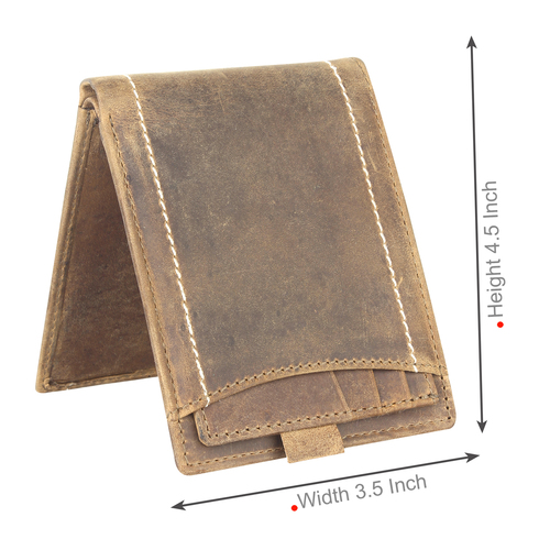 Khaki Casual Short Wallet