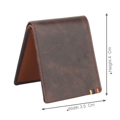 Money Clip Leather Wallet for Men