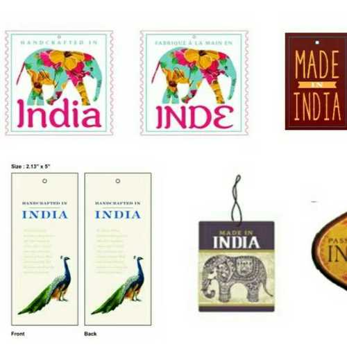 Multicolor Corporate Printed Hang Tags