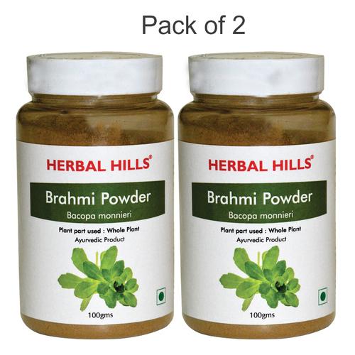 Ayurvedic Brahmi Powder 100gm For Healthy Hair & Memory Booster (Pack Of 2)