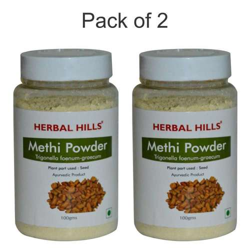 Ayurvedic Methi Seed Powder 100gm For Joint Pain Relief & Blood Sugar Control (Pack Of 2)