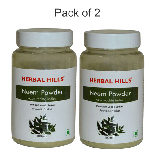 Ayurvedic Neem Patra Powder 100gm For Blood Purification (Pack Of 2)