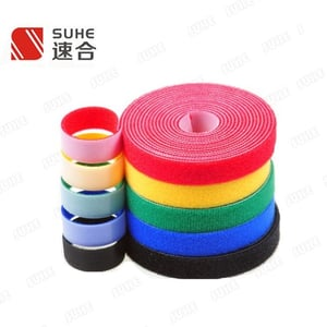 Double Sided Self Adhesive Sticky Strap Hook And Loop Tape