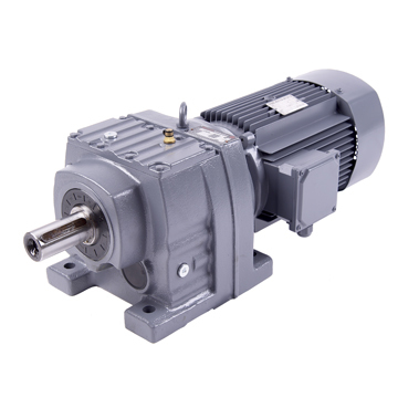 Grey Color Helical Gearboxes Motor