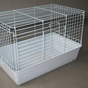 Portable Painted Rabbit Cage