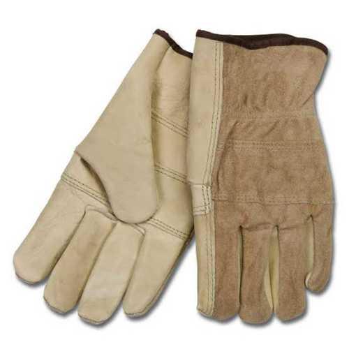 Cream Natural Industrial Hand Gloves