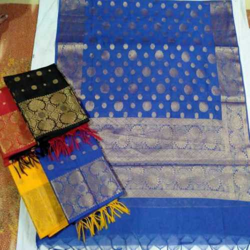 Various Colors Are Available Unstitched Banarasi Cotton Suits