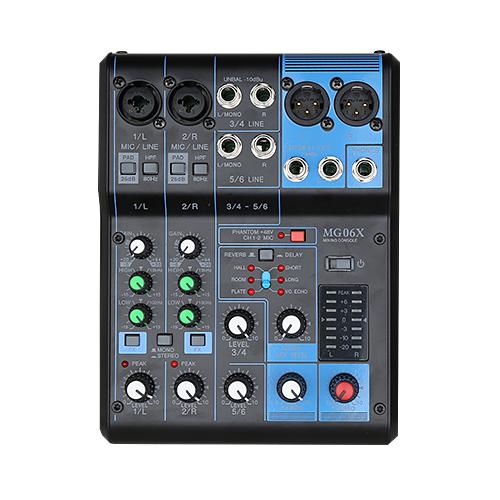 6 Channel Sound Mixer Console