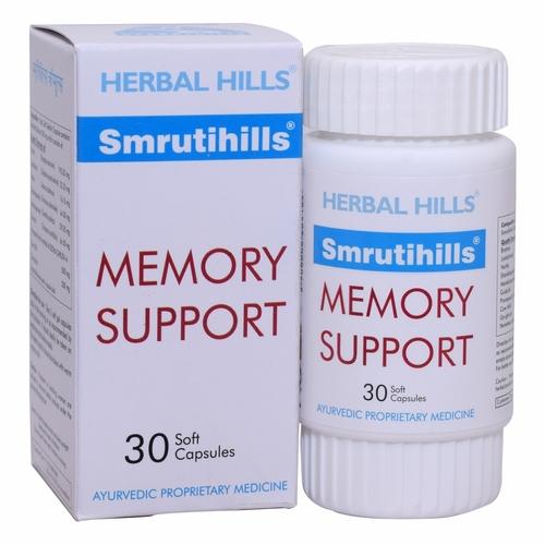 Ayurvedic Brain Tonic For Memory And Concentration - Smrutihills 30 Soft Capsule