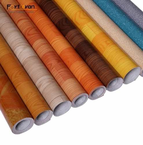 Floor Covering With Felt Backing Rolls Parquet In Pvc Material Certifications: Sgs