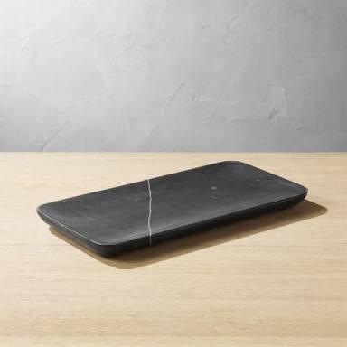 Rectangular Black Marble Handicraft Tray