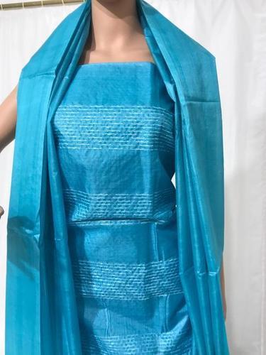 Pure Tussar Silk Weaved Kurti 2.5 Mtrs, Plain Dupatta 2.5 Mtrs