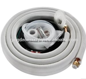 Insulated Copper And Copper Pipe For Air Conditioning Installation Kit