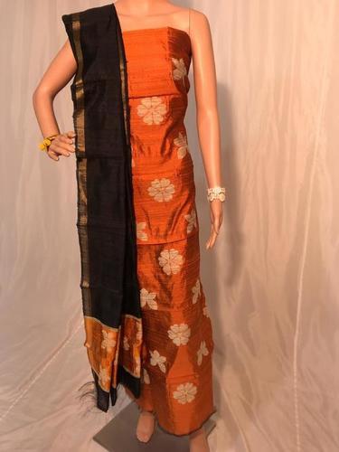 Pure Dupion Raw Silk Suit (Kurti 2.5 Mtrs / Dupatta 2.5 Mtrs)