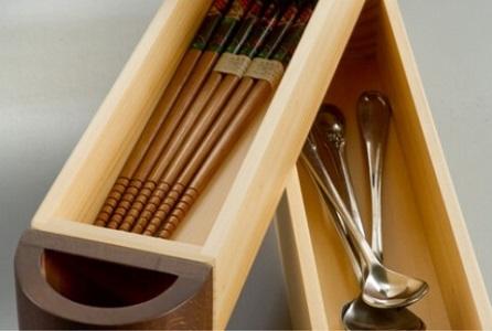 Wooden Kitchen Utensil Holder