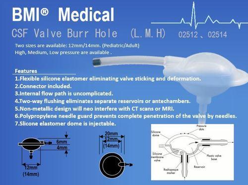 CSF Valve Burr Hole (L.M.H) 02512