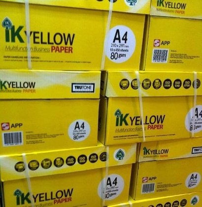Ik Yellow A4 Copy Paper Certifications: Iso9001:2/Sgs/Msds