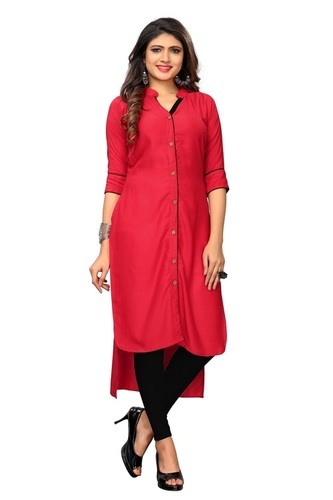 Stylish Up-Down Rayon Kurti