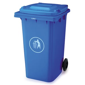 240 Litres Plastic Garbage Can Container On Wheels with Lid
