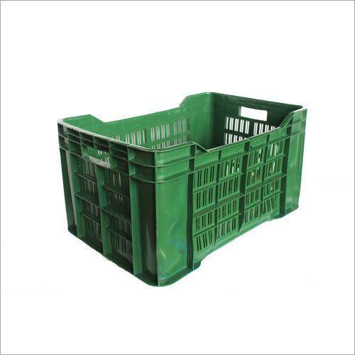 Green Plastic Vegetable Crates