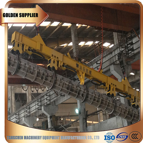 yellow Automatic Spreader Beam For Precast Concrete Spun Pile Mould