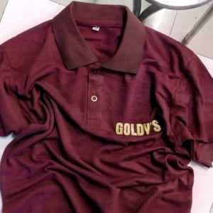 Polo Matte Uniform T-Shirts With Front And Back Print