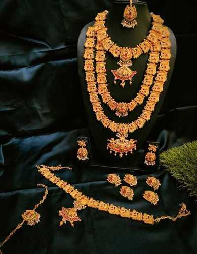 South Indian Bridal Necklace Set Shri Chhemkari Art Shop No 9