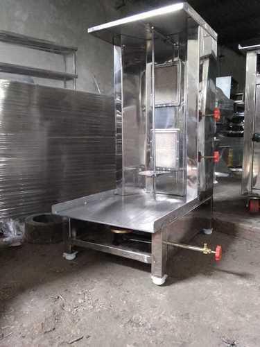 Table Top Shawarma Machine 2 Burner Lpg Model With Motor